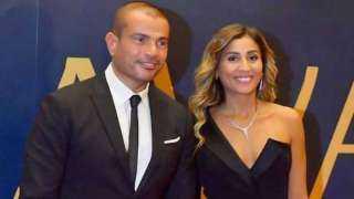 دينا الشربيني تنافس عمرو دياب في حفل زفاف بزغروطة وأغنية